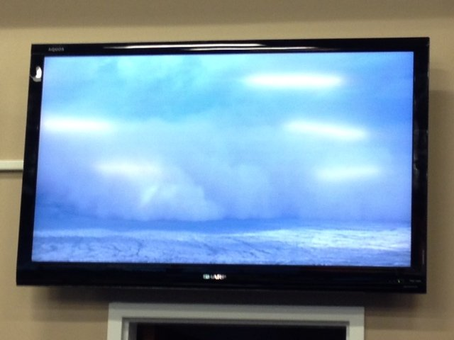 Aerials of the dust storm from our news helicopter as the video is being fed into the newsroom. (Source: CBS 5 News)