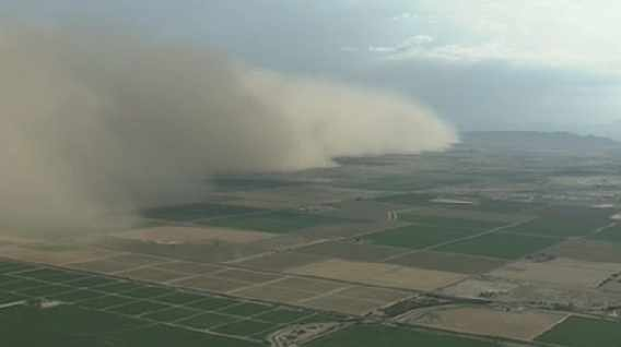 Dust storm develops in Pima County. (Source: CBS 5 News)