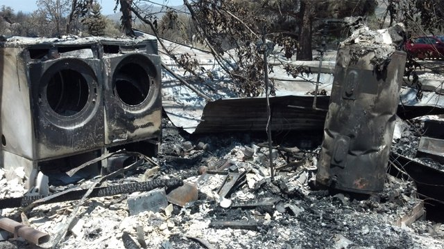 What's left of Robert Westall's home in Yarnell. (Source: CBS 5 News)