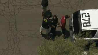 One of the four suspects detained by police. (Source: CBS 5 News)