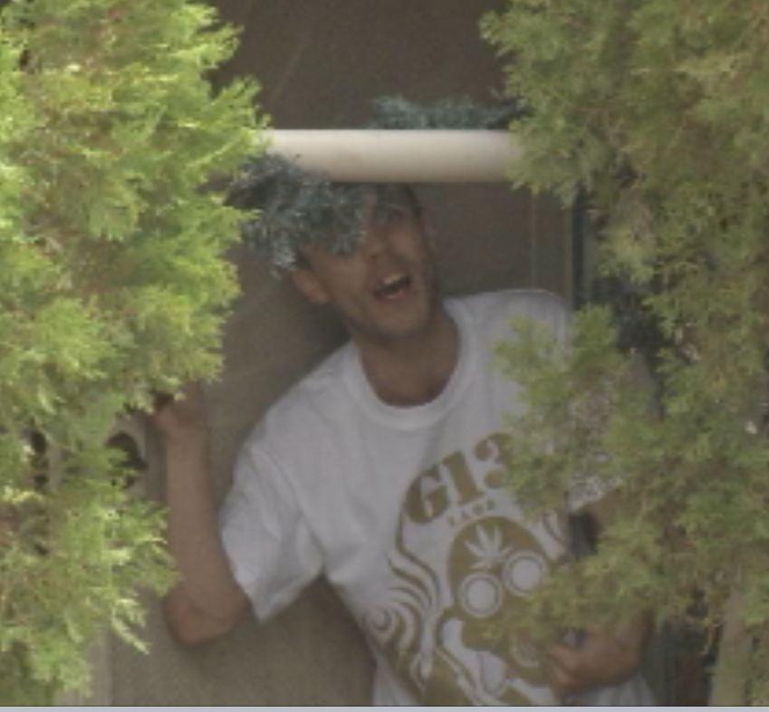 Cusick talks to CBS 5 News from his front door.
