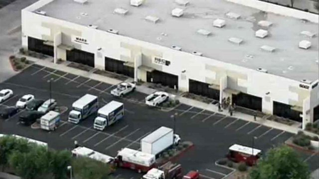 Workers at a Phoenix solar company complained of an odd odor at their business Monday morning. (Source: CBS 5 News)