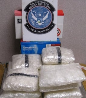 Federal officers confiscated more than $624K in meth. (Source: U.S. Customs and Border Protection)