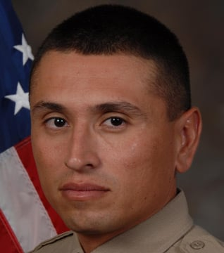 Deputy Jesus Verduzco was placed on administrative leave after he hit a boy witnesses said ran in front of his patrol car Tuesday. (Source: Pima County Sheriff's Office)