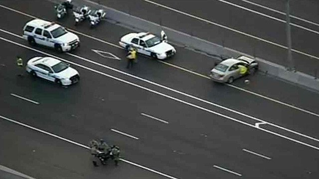 Eastbound Interstate 10 was closed after a fatal crash Tuesday morning. (Source: CBS 5 News)