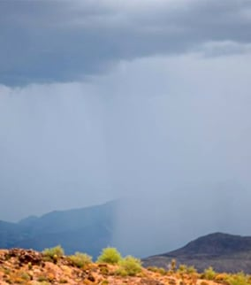 Rain was also falling in the Four Peaks area. (Source: Richard Grzych)