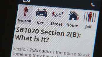 STOP 1070 smartphone app (Source: CBS 5 News)