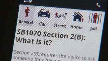 STOP 1070 smartphone app (Source: CBS 5 News)
