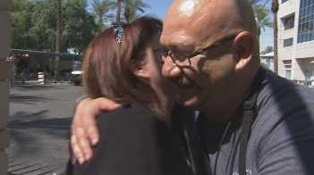 Rene Ybarra with Patricia Vasquez (Source: CBS 5 News)