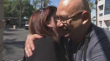 Rene Ybarra with Patricia Vasquez (Source: CBS 5 News)