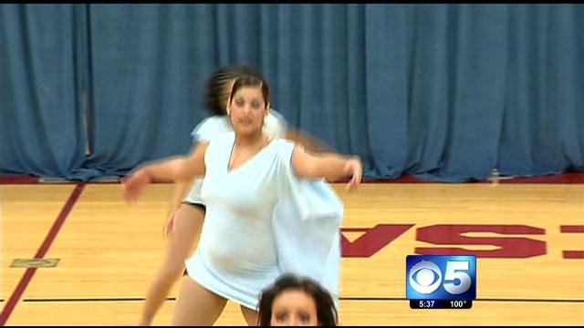 She's back dancing again! (Source: CBS 5 News)