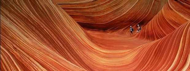 The Wave hiking trail in southern Utah. (Source: www.utah.com)