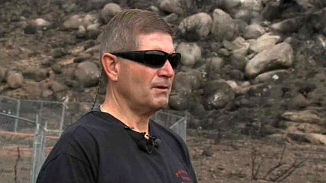 Prescott Fire Division Chief Darrell Willis says he believes the firefighters left the safety of an already burned area to protect a nearby ranch. (Source: CBS 5 News)