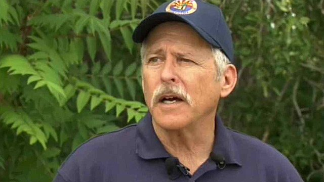 "Veteran firefighter Jim Paxon called the Yarnell Hill Fire a ""tsunami."" (Source: CBS 5 News)"