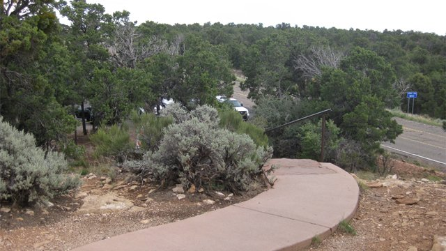 Walkway to the overlook. (Source: Coconino County Sheriff's Office)