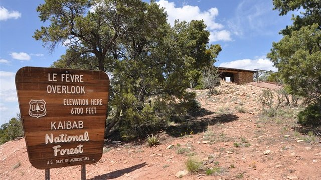 Le Fevre Overlook entrance sign. (Source: Coconino County Sheriff's Office)