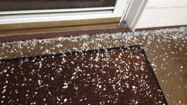 Hail hit the ground in Flagstaff. (Source: FLAGscanner)
