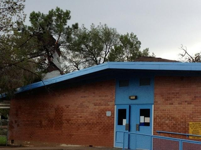 Storm damage at an elementary school in Tucson on Friday (Source: KOLD)