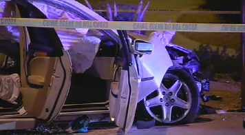 A passenger in the car was injured in the crash. (Source: CBS 5 News)