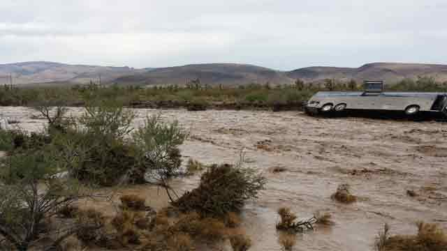 The bus was on Pierce Ferry Road when it was swept away. (Source: Northern Arizona Consolidated Fire DIstrict)