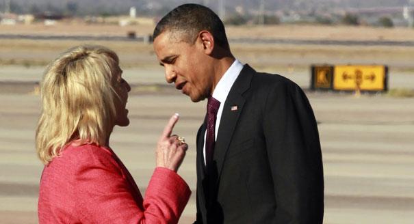 Taken during Obama's last visit to Phoenix in Jan. 2012. (Source: AP)