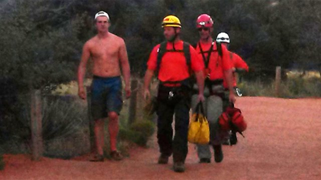 Bell Rock rescue near the Village of Oak Creek. (Source: Yavapai County Sheriff's Office)