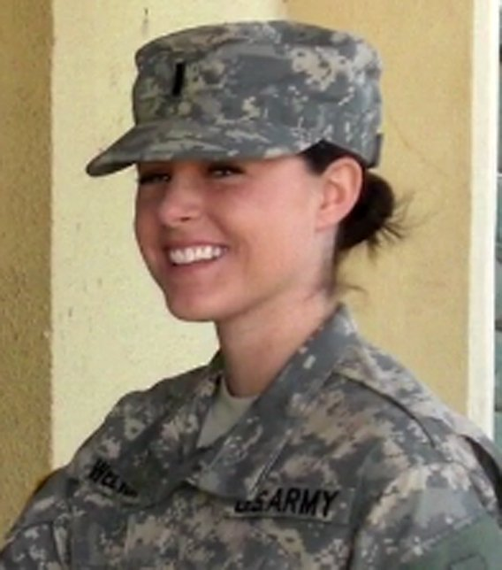 Megan Welter served 16 months in Iraq. (Source: Arizona Cardinals)
