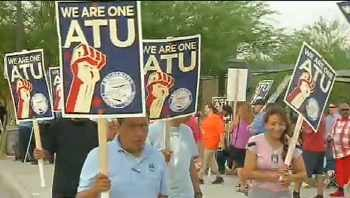 Tentative deal reached in bus strike. (Source: CBS 5 News)