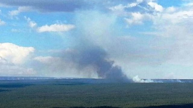 The lightning-sparked Skinner Fire near Tusayan as it appeared on Saturday. (Source: U.S. Forest Service)