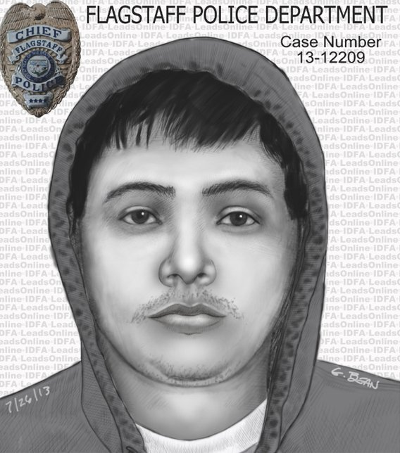 Composite sketch of a suspect in connection with two Flagstaff sex assaults this year. (Source: Flagstaff Police Department)