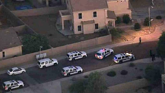 Phoenix police were investigating a shooting in Phoenix on Thursday morning. (Source: CBS 5 News)