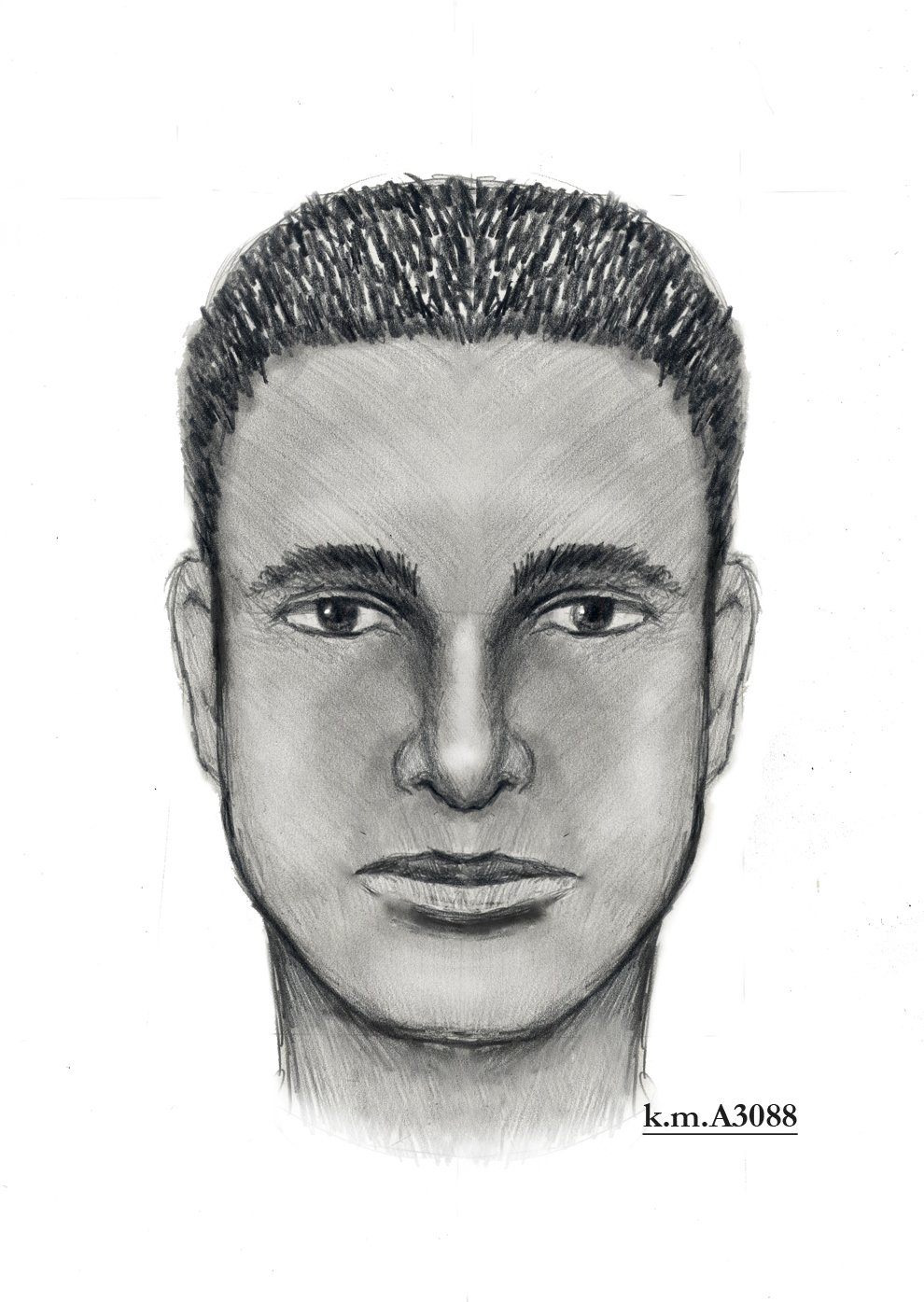 Phoenix police said the witness was able to provide enough information to a forensic artist to create this composite drawing. (Source: Phoenix Police Department)