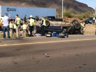Deadly rollover on Interstate 10 near Picacho Peak. (Source: Avra Valley Fire Department)