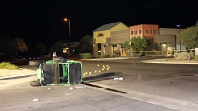 Accident scene at North Mountain Vista Boulevard and West Morgan Lane. (Source: Pinal County Sheriff's Office)