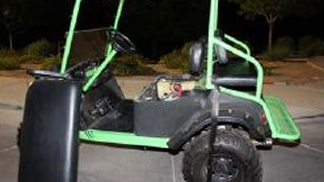 Nine people were on the golf cart at the time of the mishap, PCSO said. (Source: Pinal County Sheriff's Office)