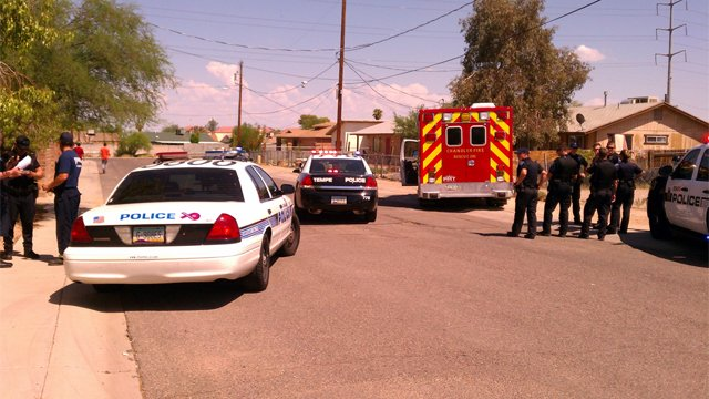 Ambulance stolen from Chandler police station. (Source: CBS 5 News)