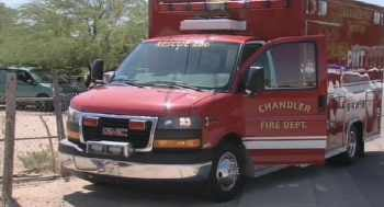 The ambulance was found at the suspect's Guadalupe home. (Source: CBS 5 News)
