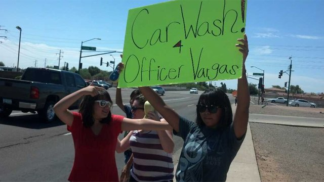 The car wash took place at Jimbos Restaurant. (Source: KPHO-TV)