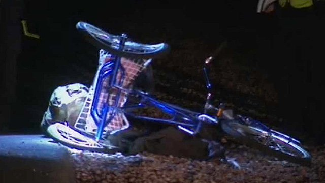 A man riding this three-wheel bicycle was struck from behind and killed in a hit-and-run in Mesa on Tuesday night. (Source: CBS 5 News)