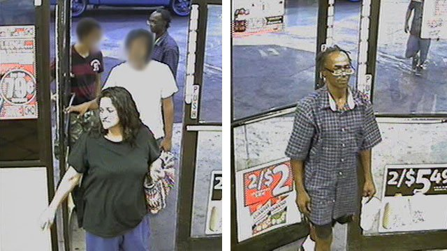 Glendale police are looking for this woman and man in connection with the theft of a credit card from a convenience store employee in July. (Source: Glendale Police Department)