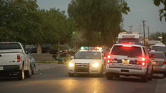 Police say a man's body was found against a curb near Southern Avenue and 16th Street in Phoenix on Wednesday morning. (Source: CBS 5 News)