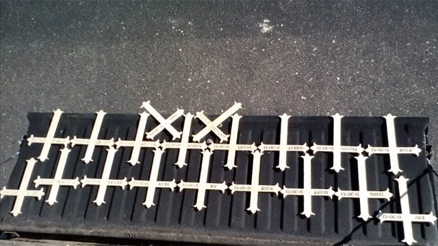 Crosses made by AZ resident to memorialize Prescott 19 (Source: Ed, a CBS 5 viewer)