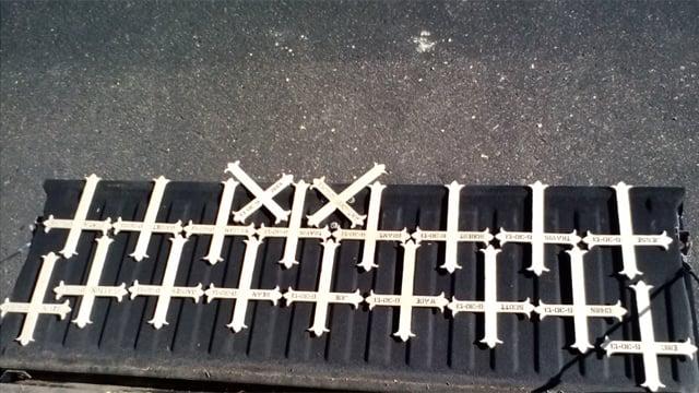 Crosses made by AZ resident to memorialize Prescott 19 (Source: Ed, a CBS 5 viewer)
