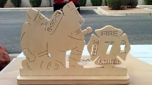 A plaque he made pays tribute to the surviving Hotshot. (Source: Ed, a CBS 5 viewer)