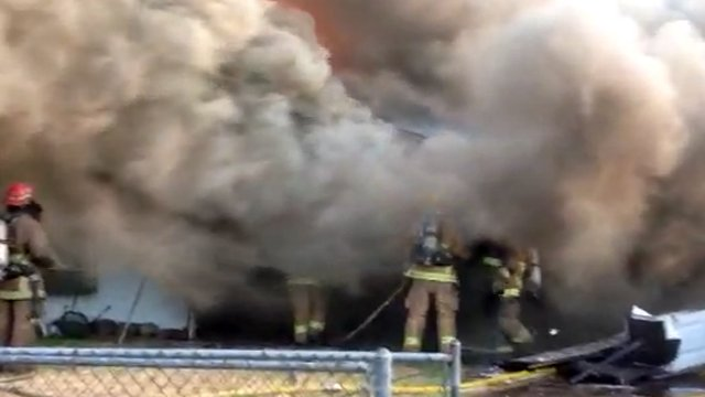 Dense smoke billowed from the burning home, hampering efforts to find the man. (Source: Phoenix Fire Department)