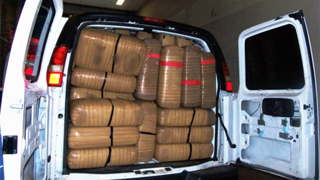 More than 6,100 pounds of marijuana in two separate incidents. (Source: U.S. Customs and Border Protection)