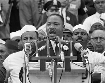 "Dr. Martin Luther King's ""I Have a Dream"" speech on Aug. 28, 1963. (Source: AP Photo/File)"