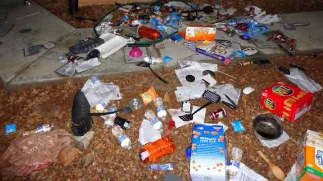Some of the items the children were throwing off the balcony. (Source: Prescott Valley Police Department)