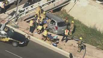 The crash scene near 99th Avenue and Union Hills. (Source: CBS 5 News)