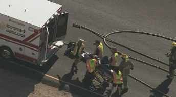 At least one person was rushed to the hospital. (Source: CBS 5 News)